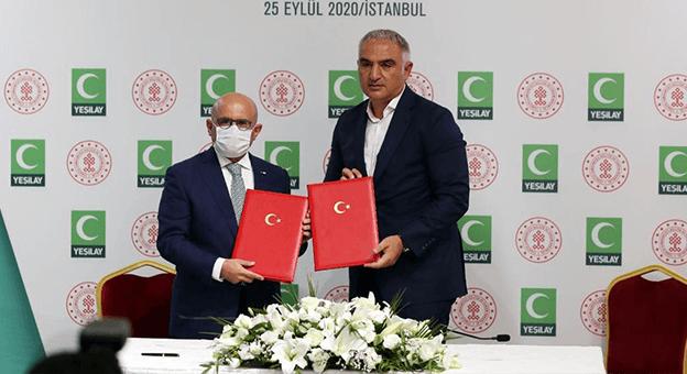 T.C. Kültür ve Turizm Bakanlığı ile Yeşilay iş birliği protokolü imzaladı
