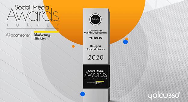 Yolcu360 Social Media Awards'ta Gümüş Ödülün Sahibi Oldu