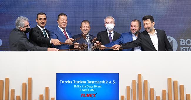 Tureks Turizm Gong Töreni Yapıldı, 772 Bin 538 Yatırımcıdan Talep Geldi