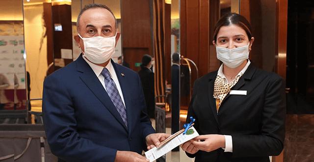 Çavuşoğlu'ndan Hilton Istanbul Maslak ziyareti