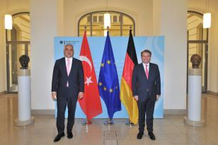Bakan Ersoy ve Cumhurbaşkanlığı Sözcüsü Kalın Almanya'da