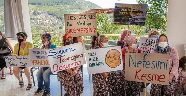 Orhanlı köylüleri jeotermal santrale karşı katılım toplantısı gerçekleştirdi